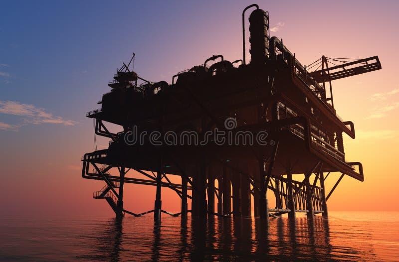 Oil Rig stock illustration