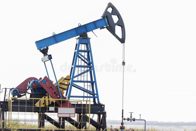 Oil rig. Oil pump. Equipment of the oil industry. stock photo
