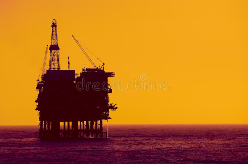 Download Oil  rig  silhouete stock photo. Image of geological - 15416748