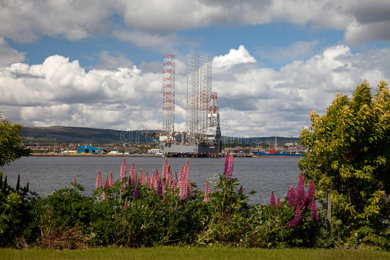 Download Oil rigs being constructed stock photo. Image of firth - 20200334