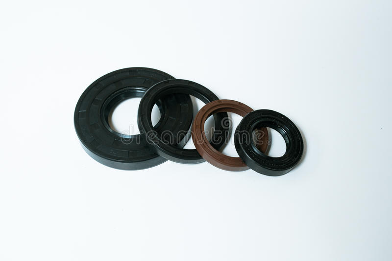 Oil Seal chemical resistance for Industrial on white background stock photography