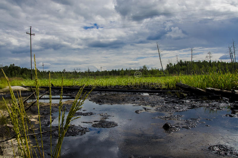 Oil spill stock photography