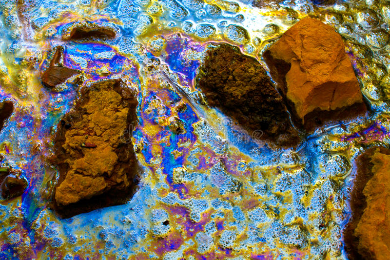Oil spill - pollution - ecological disaster royalty free stock photography