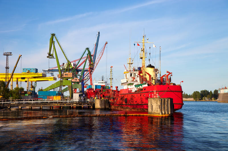 Oil spill. From the ship - Image is an artistic digital rendering stock photos