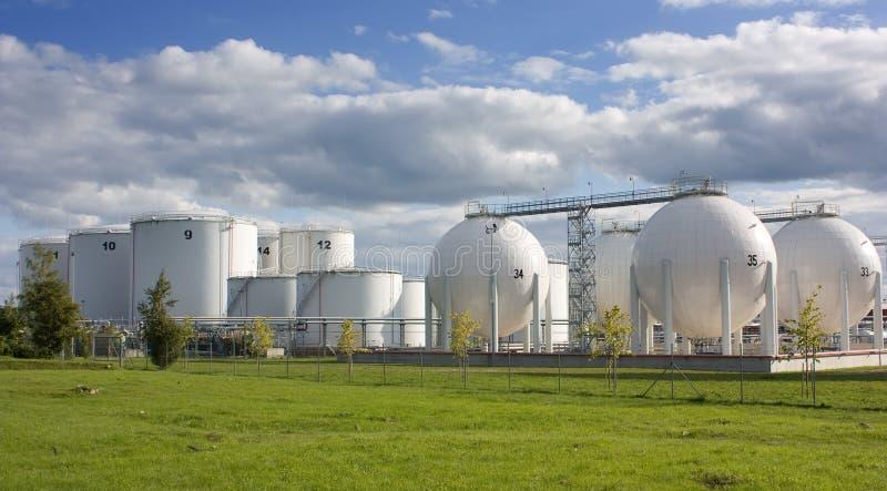 Oil storage tanks royalty free stock image