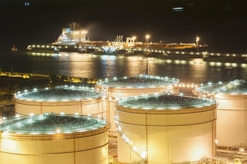 Oil Storage tanks. And oil tank royalty free stock image