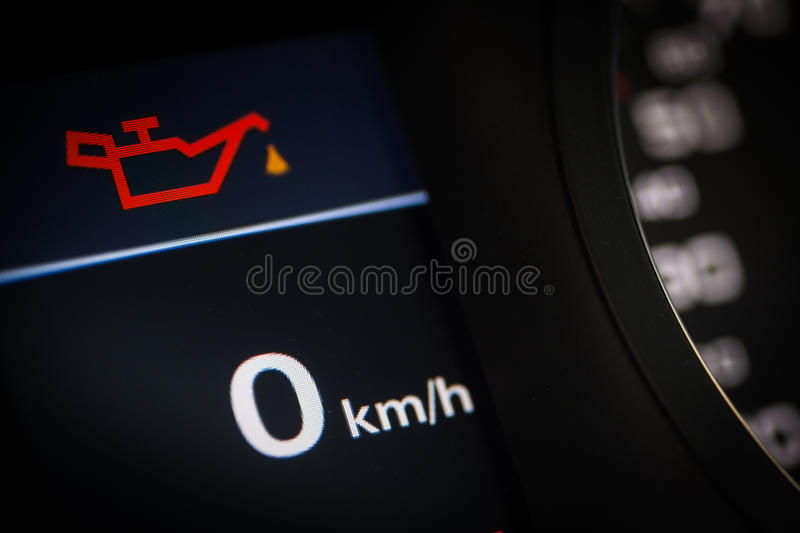 Oil symbol in a car stock photos