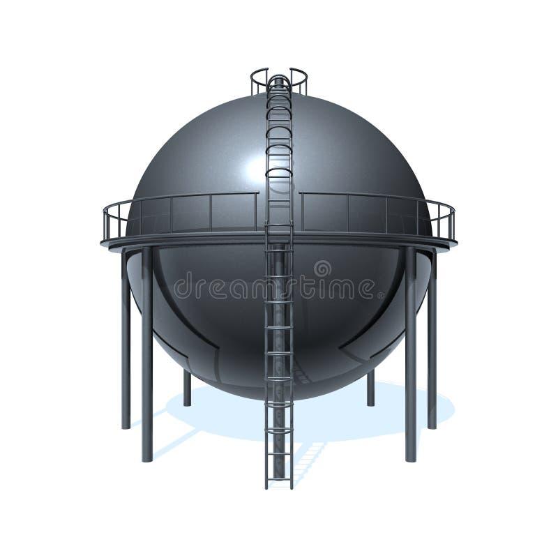 Oil tank royalty free illustration