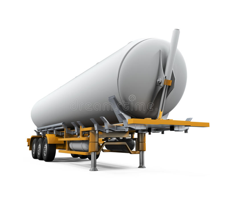 Oil Tank Truck Isolated royalty free illustration