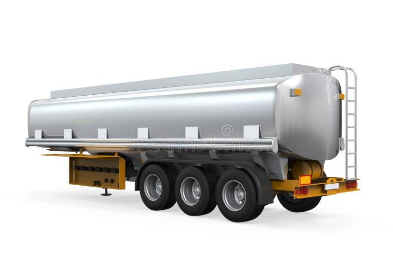 Oil Tank Truck. On white background. 3D render stock image