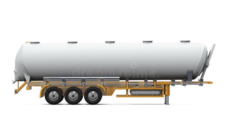 Oil Tank Truck. On white background. 3D render stock images