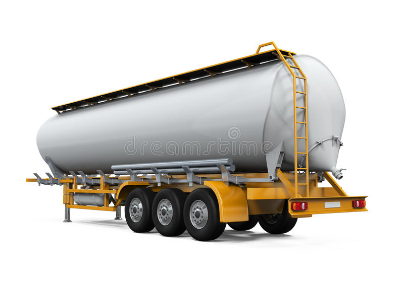 Oil Tank Truck. On white background. 3D render royalty free stock photos