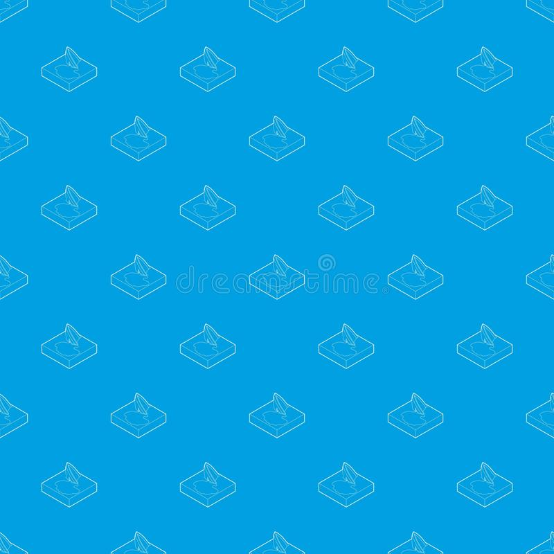 Oil tanker accident with an oil slick pattern vector seamless blue. Repeat for any use stock illustration