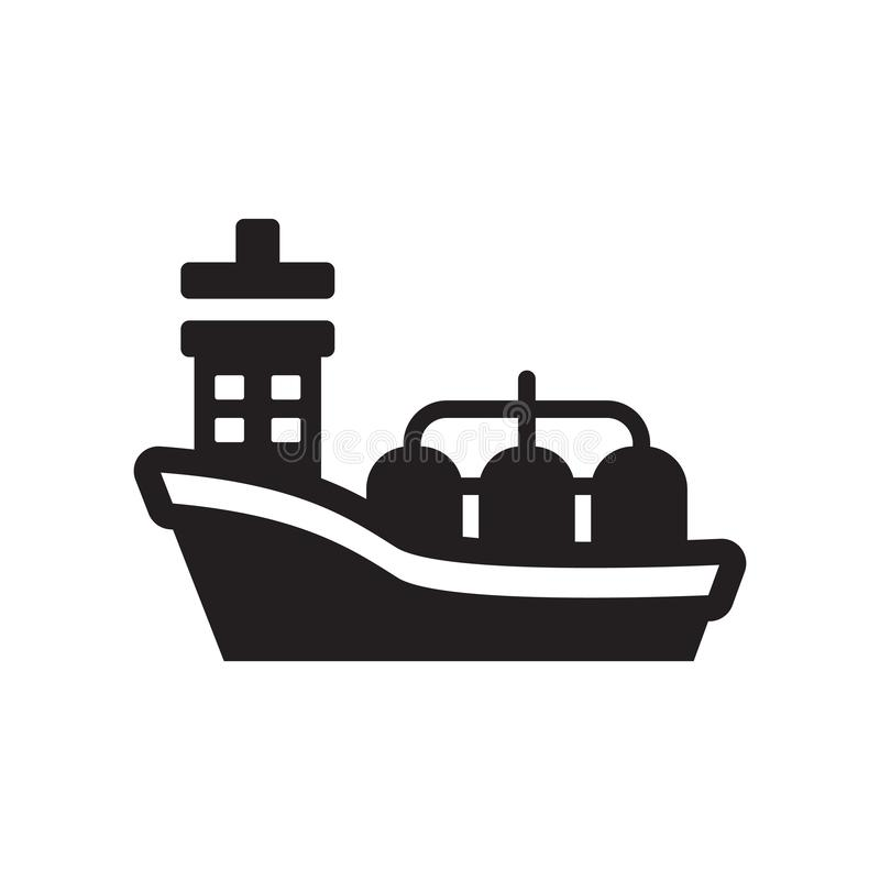 Oil tanker icon. Trendy Oil tanker logo concept on white background from Industry collection. Suitable for use on web apps, mobile apps and print media royalty free illustration