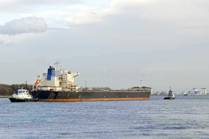 Oil tanker and pilot boat assist