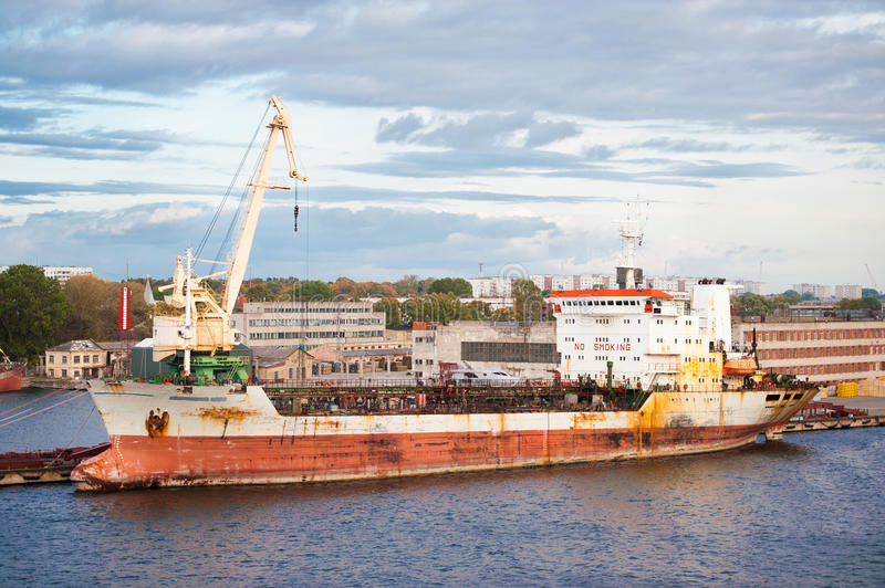 Download Oil tanker in port stock photo. Image of rusted, port - 22662258