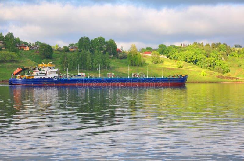 Oil tanker SUDAK (VOLGA-DON 5004) on the Volga River. Russia stock image