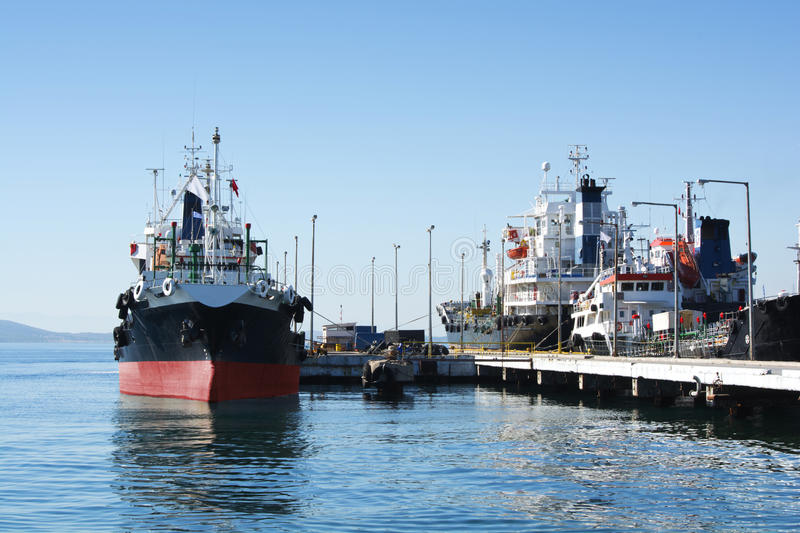 Oil-tankers royalty free stock photo