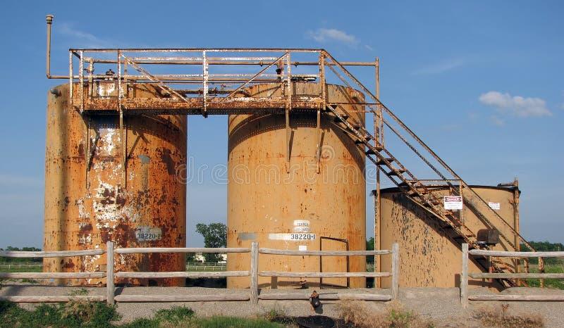 Oil tanks 2 royalty free stock photos
