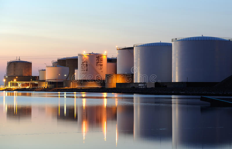 Download Oil tanks stock image. Image of blue, environment, depot - 20085755