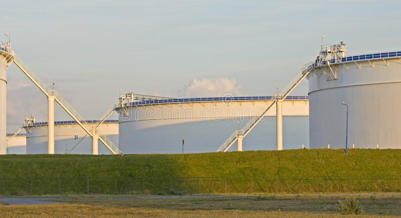Download Oil Tanks In The Evening Light Royalty Free Stock Photos - Image: 4312088