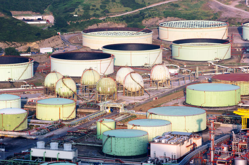 Download Oil tanks stock image. Image of refinery, store, industry - 32363461