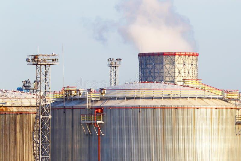 Oil tanks stock image