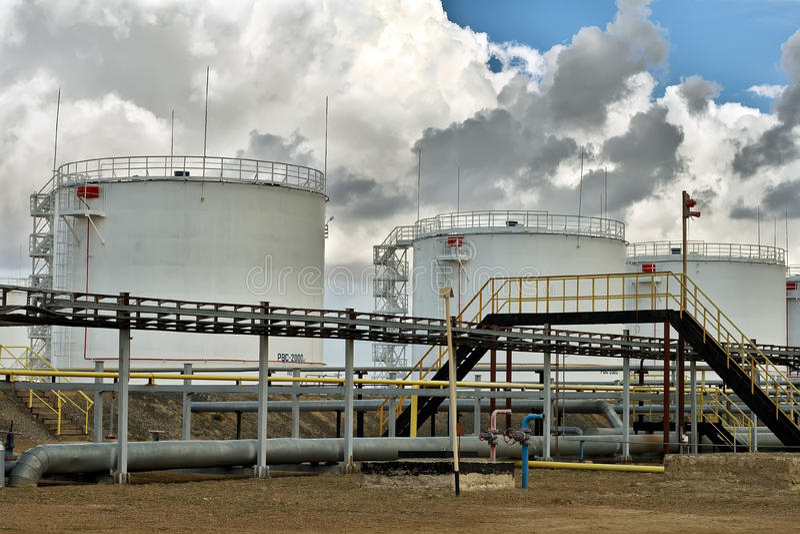 Oil tanks. royalty free stock photos