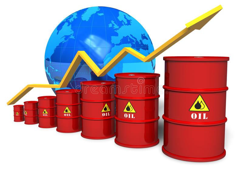 Oil trading concept stock illustration