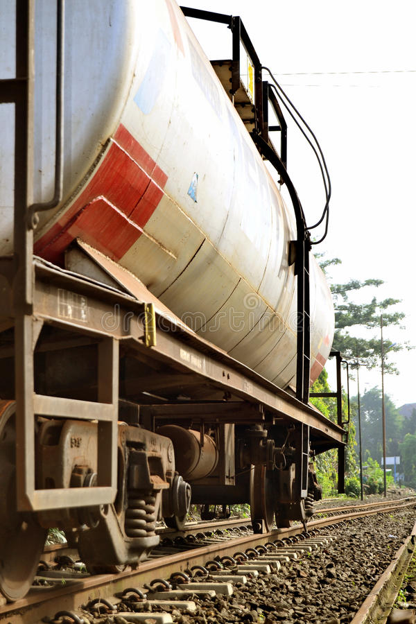 oil and fuel transportation by rail stock image