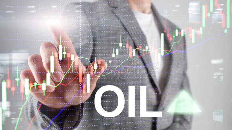 Oil trend up. Crude oil price stock exchange trading up. Price oil up. Arrow rises. Abstrac. T business background stock images