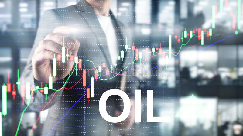 Oil trend up. Crude oil price stock exchange trading up. Price oil up. Arrow rises. Abstract business background. vector illustration