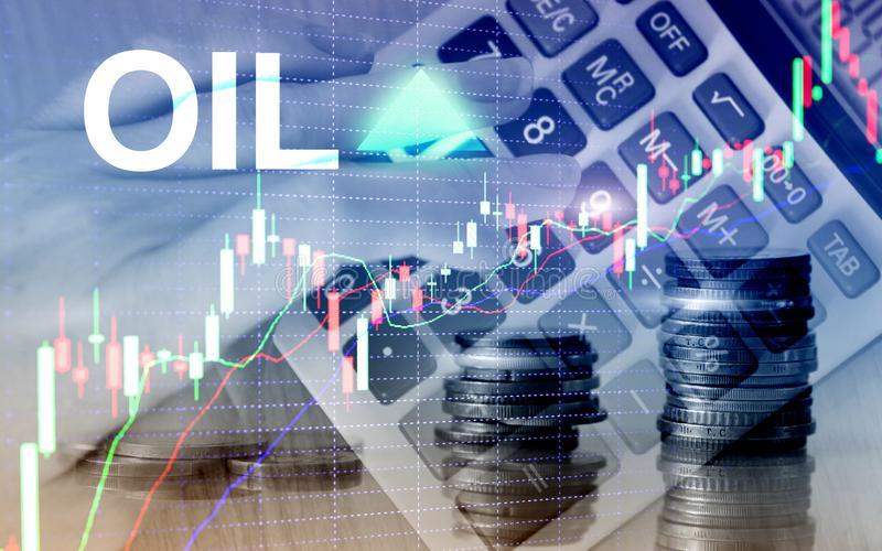Oil trend up. Crude oil price stock exchange trading up. Price oil up. Arrow rises. Abstract business background. Oil trend up. Crude oil price stock exchange stock illustration