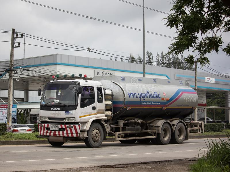 Oil Truck of Boon ThaWee Maeram Oil transport Company. Chiangmai, Thailand - August 16 2019: Oil Truck of Boon ThaWee Maeram Oil transport Company. On Truck on royalty free stock image