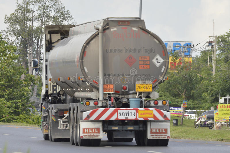 Oil Truck. Of PSP Energy Oil transport Company. thailand royalty free stock images