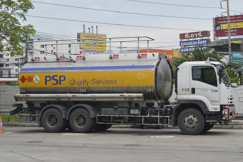 Oil Truck. Of PSP Energy Oil transport Company. thailand royalty free stock image