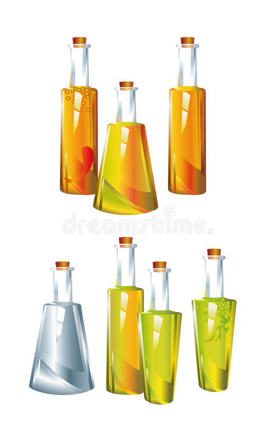 oil_vinegar stock de ilustración