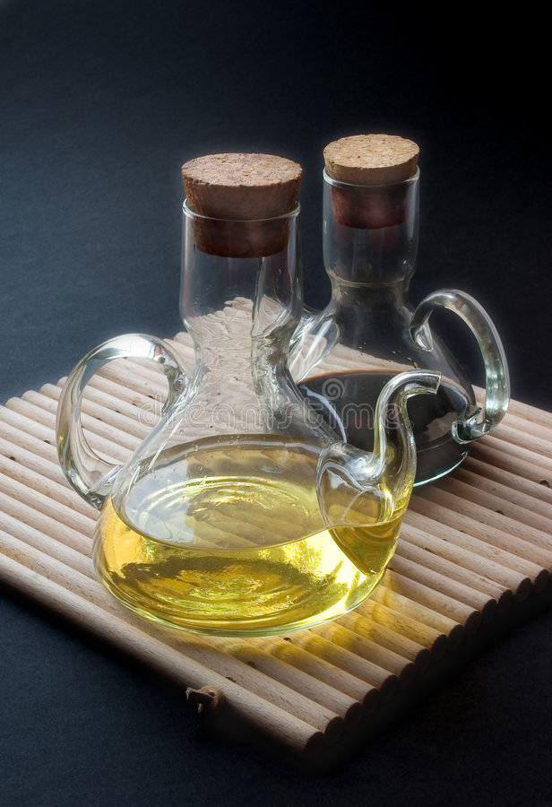 Oil and vinegar stock images
