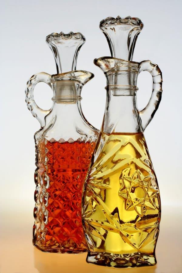 Oil & Vinegar Cruets royalty free stock photography
