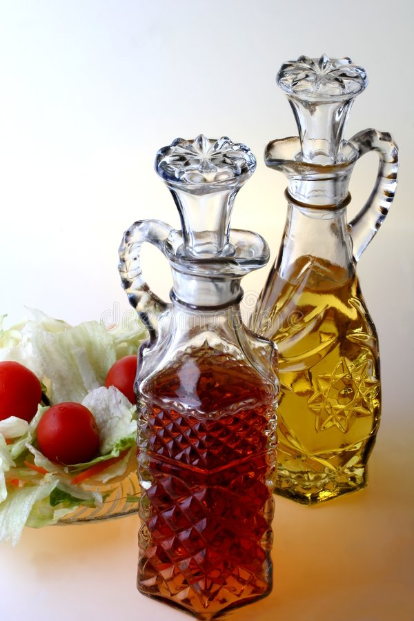 Oil & Vinegar Cruets stock images