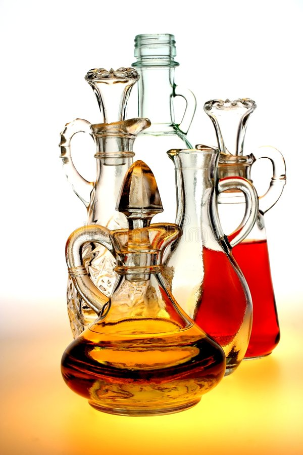 Oil and Vinegar Pitchers stock image