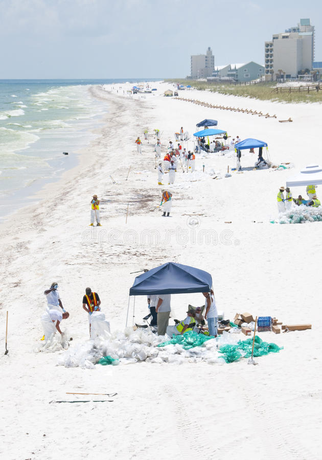 Download Oil Washes Ashore In Pensacola Beach Editorial Stock Photo - Image: 14859963