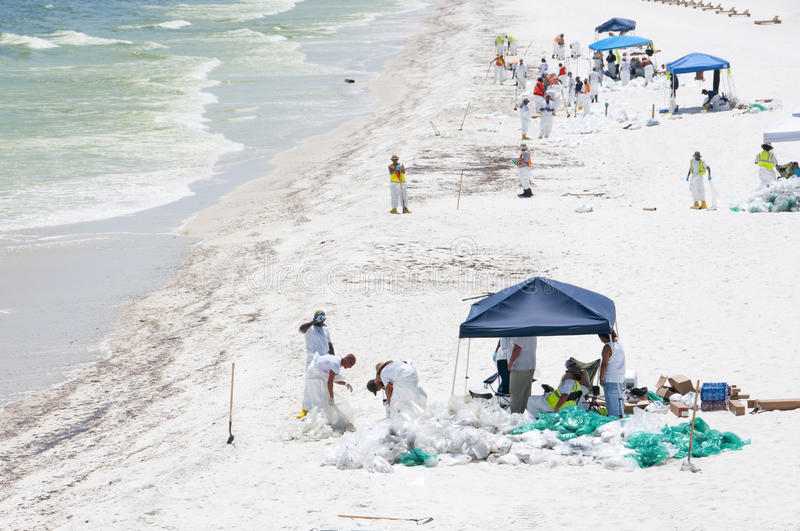 Download Oil Washes Ashore In Pensacola Beach Editorial Photo - Image: 14859966