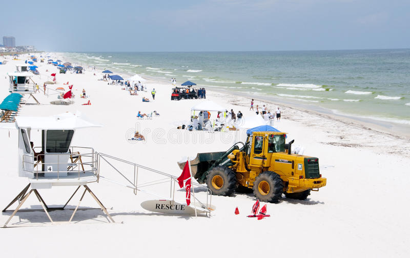 Download Oil Washes Ashore In Pensacola Beach Editorial Stock Photo - Image: 14860053