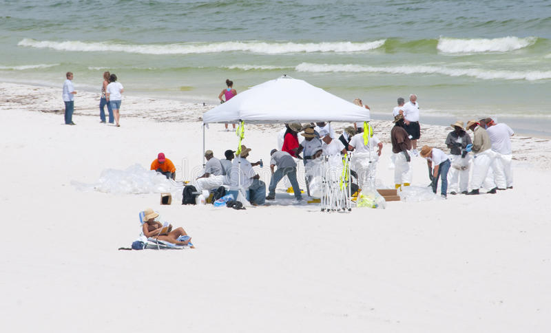 Download Oil Washes Ashore In Pensacola Beach Editorial Photography - Image: 14860057