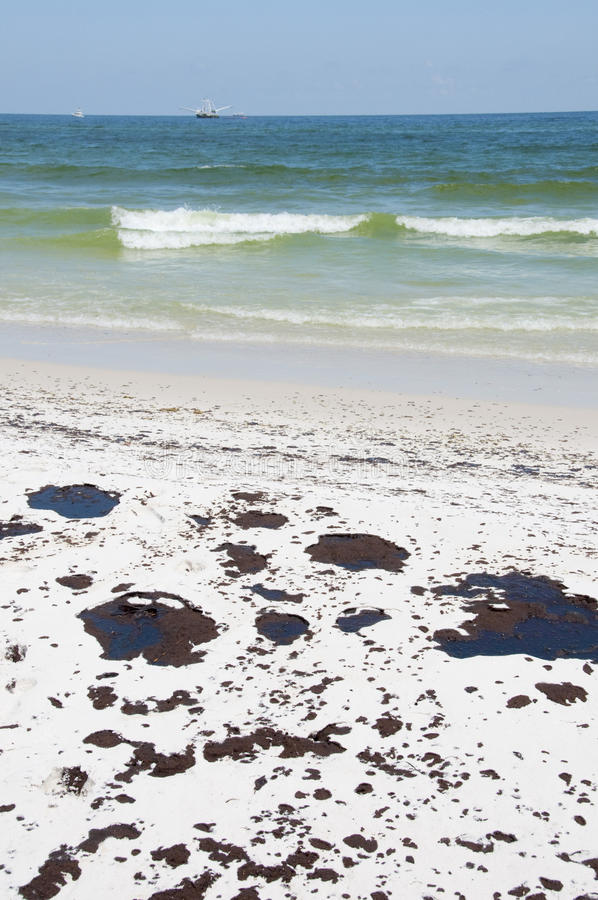 Download Oil Washes Ashore In Pensacola Beach Editorial Stock Image - Image of accident, nature: 14860139