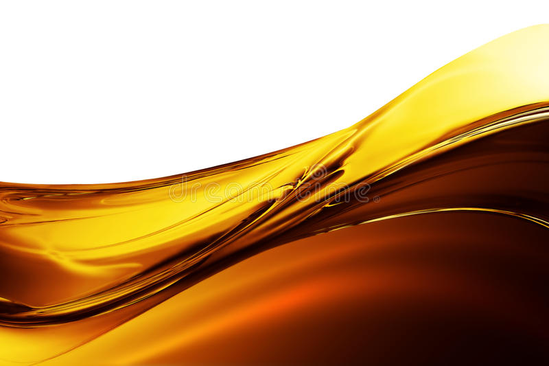 Oil Wave. On a white background royalty free illustration
