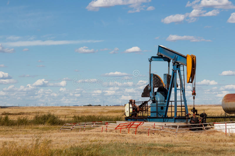 Oil well stock image