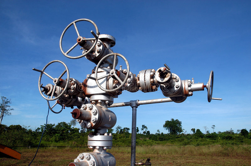Oil Well Installation royalty free stock photos
