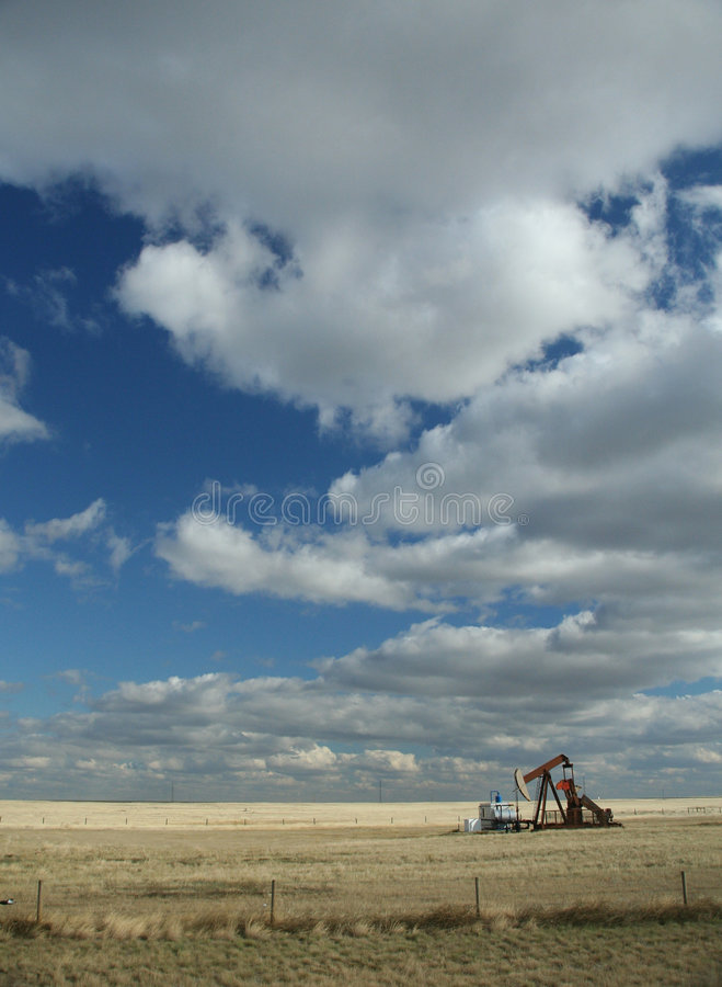 Download Oil well,prairies stock photo. Image of derrick, blue - 1424408